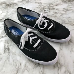 Keds Ortholite Black White Lace Fashion Sneaker 9